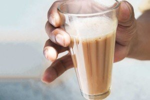 A steaming cup of masala chai